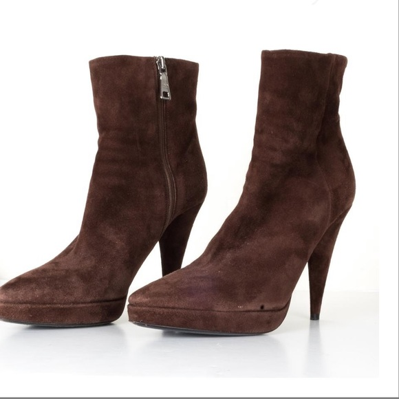 d1a5f021 WINTER SALE!! Prada brown suede booties